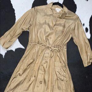 DKNY Pure silk two piece slip dress set